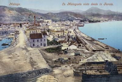 District of La Malagueta Viewed from the Lighthouse, Malaga, Spain--Photographic Print