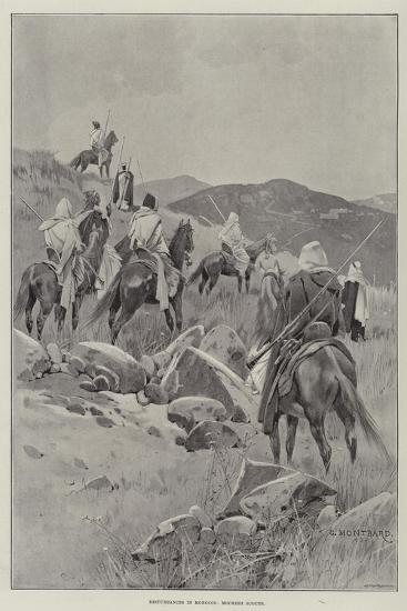 Disturbances in Morocco, Moorish Scouts-Charles Auguste Loye-Giclee Print