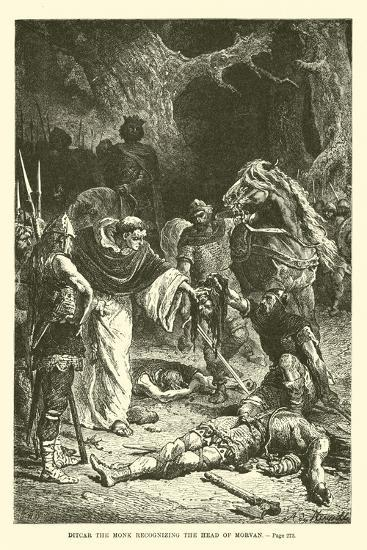 Ditcar the Monk Recognizing the Head of Morvan--Giclee Print
