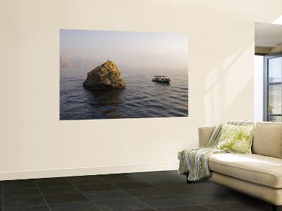 Dive Boat Moored Beside Octopus Rock-Mark Daffey-Wall Mural