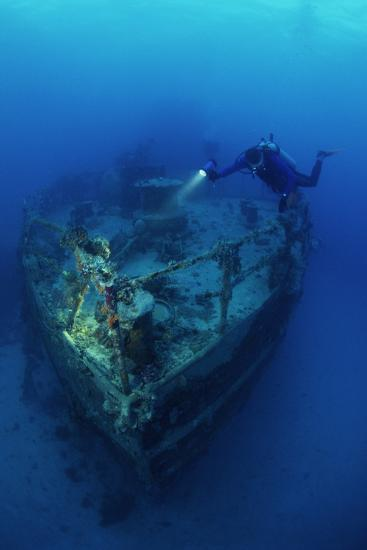 Diver on a Wreck-Alexis Rosenfeld-Photographic Print
