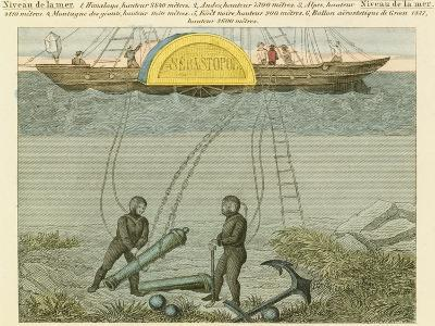 Divers Salvaging Guns from the Seabed, C1855--Giclee Print