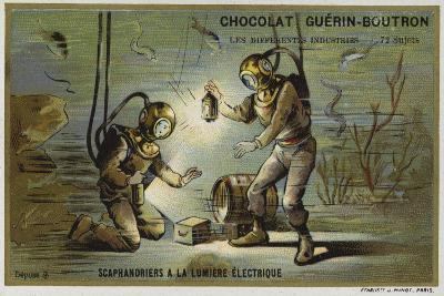 Divers Working by Electric Light--Giclee Print