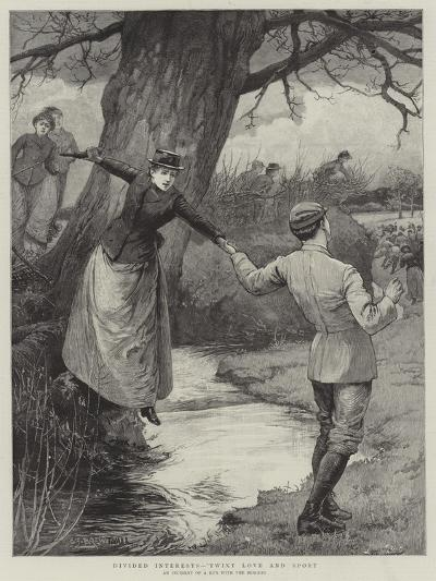 Divided Interests, 'Twixt Love and Sport-Edward Frederick Brewtnall-Giclee Print