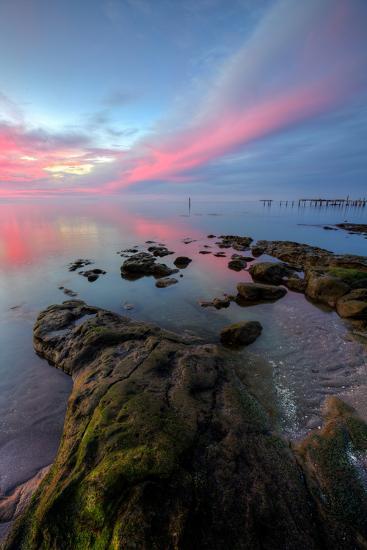 Divine Color at Sunset, San Pablo Bay, Bay Area--Photographic Print