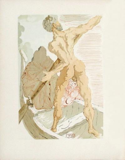 Divine Comedie, Enfer 03: Charon et le passage de l'Acheron-Salvador Dal?-Collectable Print