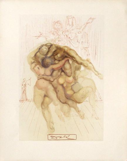 Divine Comedie, Enfer 08: Les Coléreux-Salvador Dal?-Collectable Print