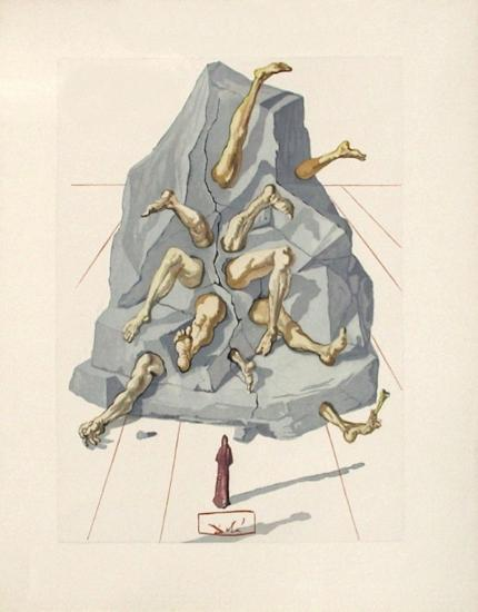 Divine Comedie, Enfer 19: Les Simoniaques-Salvador Dal?-Collectable Print