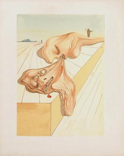 Divine Comedie, Enfer 30: Les hommes qui s'entre-dévorent-Salvador Dal?-Collectable Print