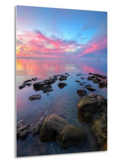 Divine Sunset Scene at San Pablo Bay-Vincent James-Metal Print