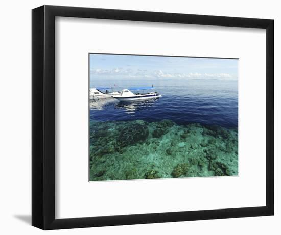 Diving Boat, Sipadan, Semporna Archipelago, Borneo, Malaysia-Anthony Asael-Framed Photographic Print