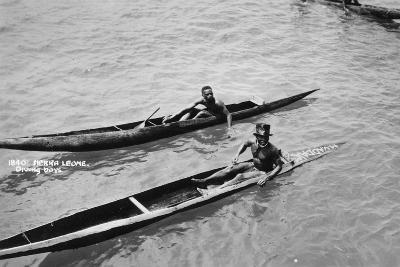 Diving Boys, Sierra Leone, 20th Century--Giclee Print