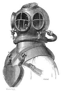 Diving Helmet with Weights Attached