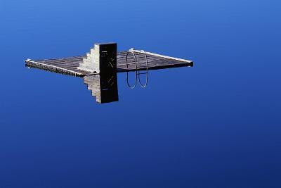 Diving Platform on Calm Lake-Paul Souders-Photographic Print