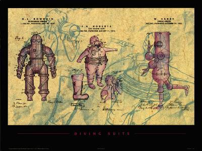 Diving Suits--Art Print
