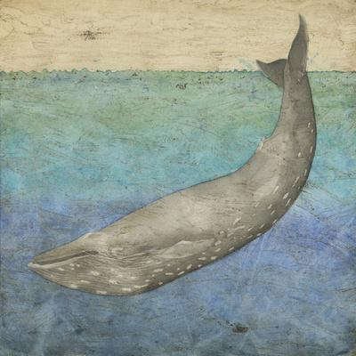 Diving Whale I-Megan Meagher-Art Print