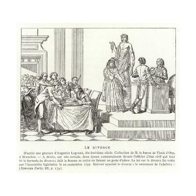 Divorce in Revolutionary France--Giclee Print