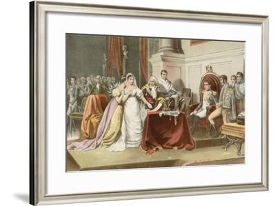 Divorcement of Josephine-Henri-frederic Schopin-Framed Giclee Print