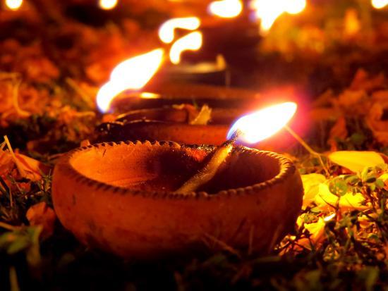 Diwali Lamps-thefinalmiracle-Photographic Print