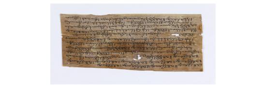 Dix-huit fragments de manuscrit en tibétain et en sanscrit--Giclee Print