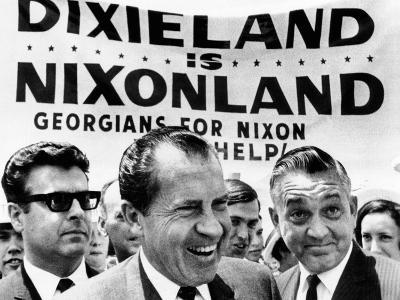 'Dixieland Is Nixonland', Reads a Big Sign Behind Republican Presidential Candidate, Richard Nixon--Photo