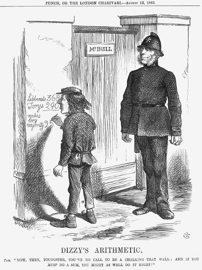 Dizzy's Arithmetic, 1865-John Tenniel-Giclee Print