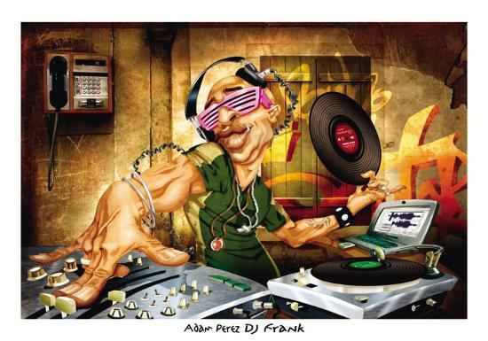 DJ Frank-Adam Perez-Art Print