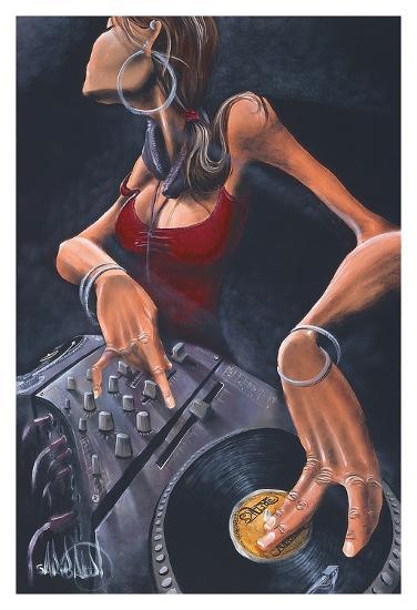 DJ Jewel-David Garibaldi-Art Print