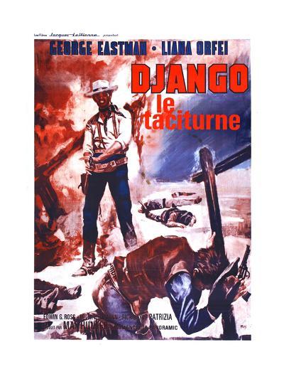 Django Kills Softly, (aka Bill Il Taciturno), French Poster Art, George Eastman, 1968--Giclee Print