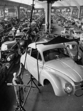 Dkw Auto Works, New 1954 Opels Getting Made-Ralph Crane-Premium Photographic Print