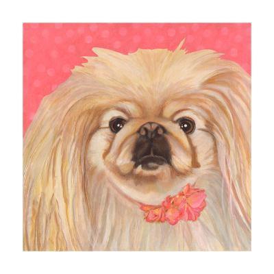 Dlynn's Dogs - Pinky-Dlynn Roll-Art Print
