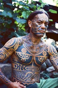 A Man Displays His Traditional, Full Body Tattoos in the Marquesas Islands by Dmitri Alexander