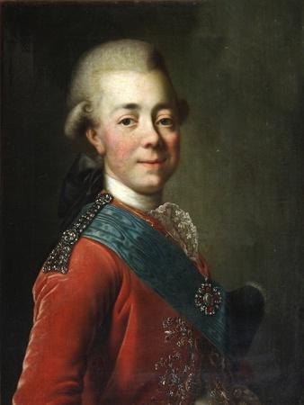 Portrait of Grand Duke Pavel Petrovich (1754-180), 1770S