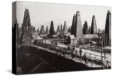 Oil Wells at Baku on the Caspian Sea, Russia, C1890