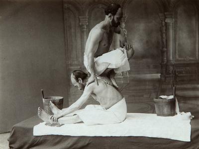 The Oriental Bath. Massage, 1880s