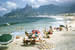 1957: Copacabana Beach, Rio De Janeiro, Brazil by Dmitri Kessel