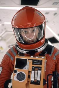 """Actor Keir Dullea in Space Suit in Scene from Motion Picture """"2001: a Space Odyssey."""", 1968 by Dmitri Kessel"""