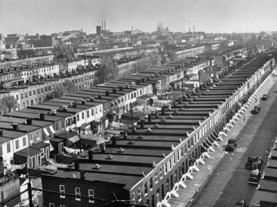 Aerial View of Town Houses in Baltimore