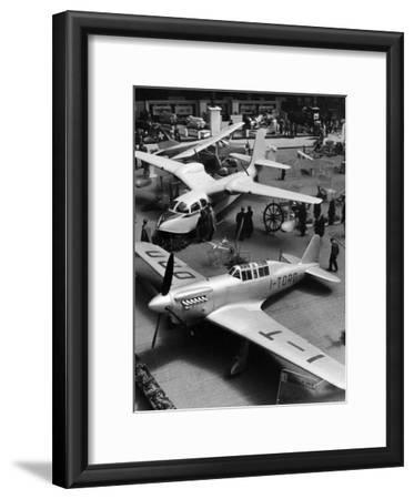 Airplanes on Display at 18th Paris International Aviation Salon Exhibition