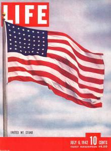 American Flag, July 6, 1942 by Dmitri Kessel