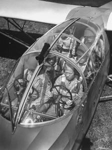 Close Up of Soldiers Sitting in Glider by Dmitri Kessel