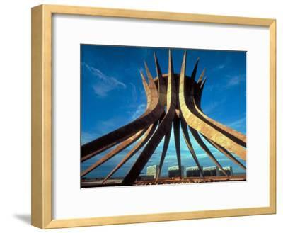 Concrete Framework for Conical Roman Catholic Cathedral Designed by Architect Oscar Niemeyer