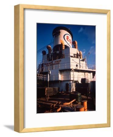 Deck of Esso Oil Tanker Little Rock, Docked at Sun Shipbuilding and Dry Dock Co. Shipyards
