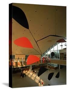 Flight by Alexander Calder in International Arrivals Terminal at New York International Airport by Dmitri Kessel