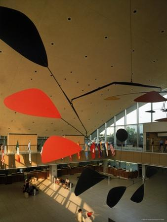 Flight by Alexander Calder in International Arrivals Terminal at New York International Airport