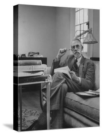 Harvard University Professor Christopher Dawson Sitting in His Study