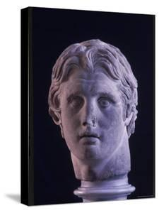 Hellenic Sculpture of Alexander the Great from the Musee D'Antiquities de Stambul by Dmitri Kessel