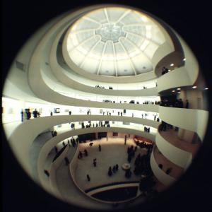 Interior Views of the Frank Lloyd Wright Designed, Solomon R. Guggenheim Museum by Dmitri Kessel