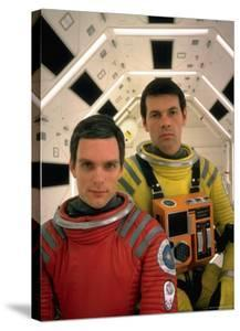 """Kier Dullea and Gary Lockwood in Publicity Still from Motion Picture """"2001: A Space Odyssey"""" by Dmitri Kessel"""