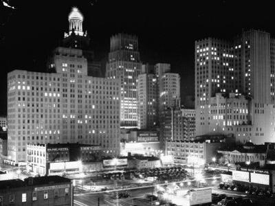 Night View of the City Houston